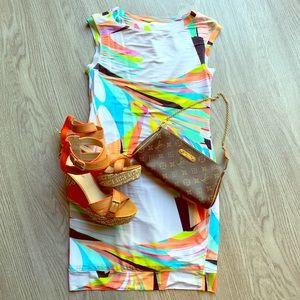 Trina Turk Brushstroke Bodycon Dress